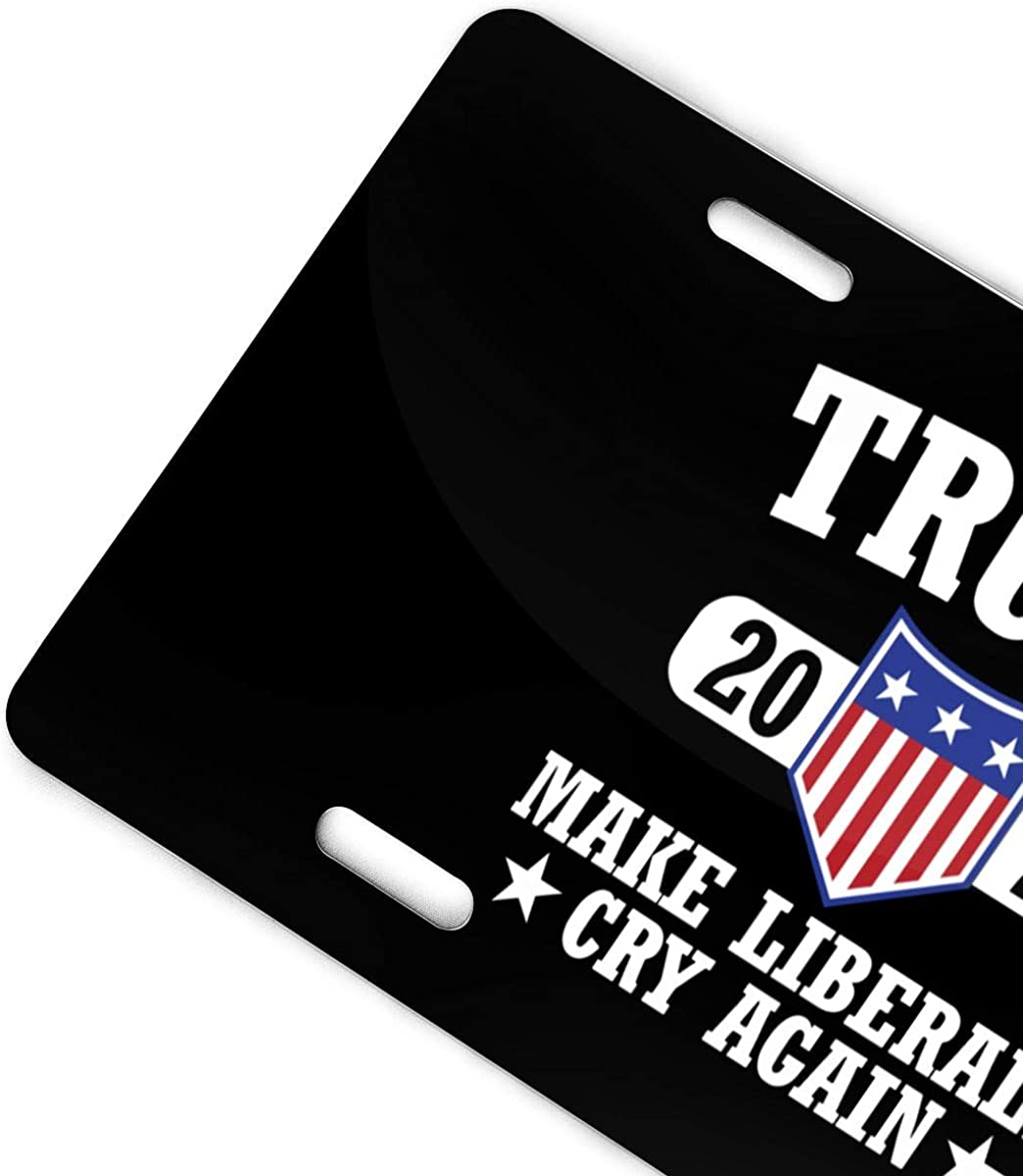 Jpnvxie Trump License Plate Covers Vanity Tag Metal Car Plate Decorative Car Front Aluminum License Plate for Men Women Boy Girls Car 6x12 Inch