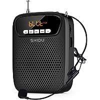 SHIDU amplificador de voz portatil micrófono, (15 W) con recargable batería de litio de 2500 mAh, profesional bluetooth…