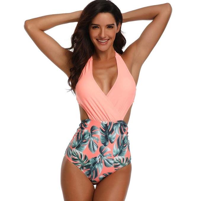 POLP Bikinis Mujer 2019 Push up Mono de Bañadores de Mujer Natacion Verano brasileños Tallas Grandes Traje de baño Mujer una Piezas Escotes sexys Bañador ...