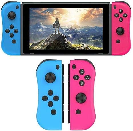 OMKARSY NS Switch Joy Pad Controllers - Controles izquierdo y derecho Compatible con Nintendo Switch como reemplazo de Joy Con Controller - Rojo / Azul: Amazon.es: Videojuegos