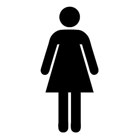 Hi-Glo - Insegna per bagno delle donne, in alluminio, 150 x 150 mm ...