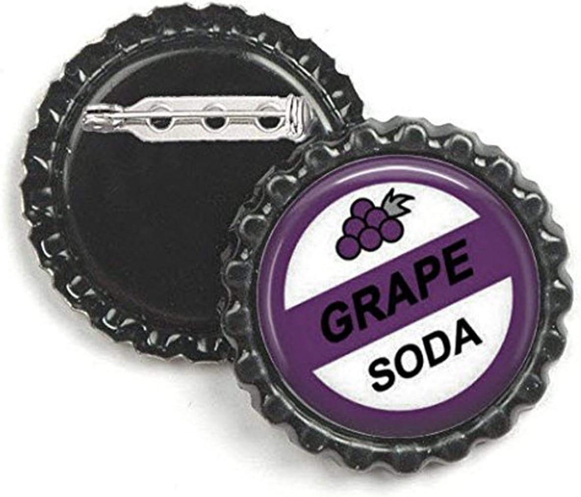 1 x Grape Soda BUTTON PIN BADGES 25mm 1 INCH Novelty Bottle Cap Up!