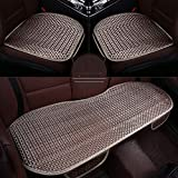 Lqqzq Cushion Car Seat Cushion Pad - Car Ice Silk Cushion - No Backrest Anti-Skid Car Universal -2PCS Seat Cushion and 1PCS Rear Seat Long Seat Cushion Cushion (Color : A)