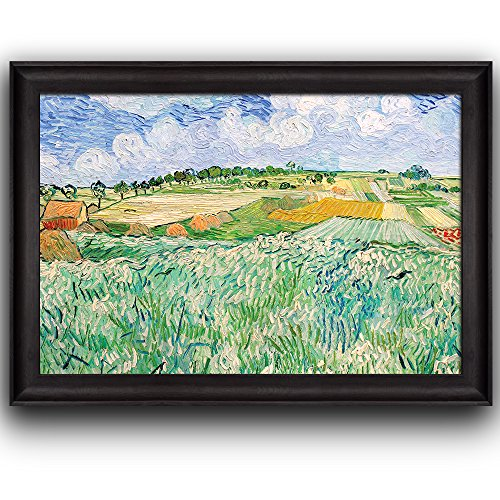 Plain at Auvers by Vincent Van Gogh Oil Painting Impressionist Artist Framed Art