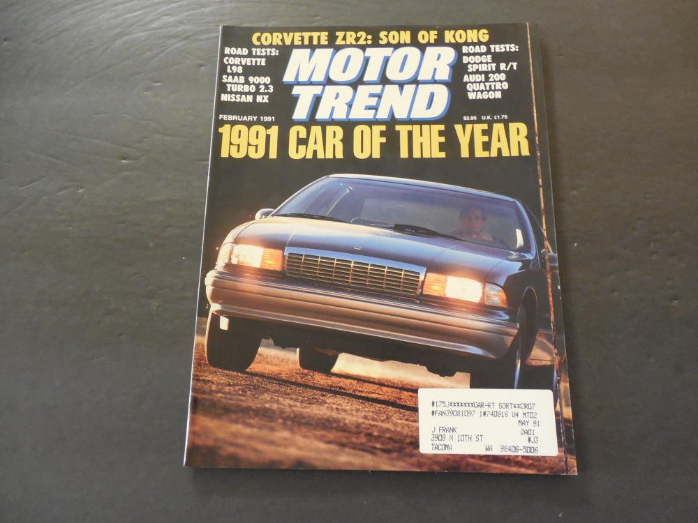 Motor Trend Feb 1991 Corvette L98; Saab 9000 Turbo; Dodge Spirit at Amazons Entertainment Collectibles Store