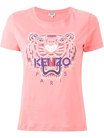 db2b899b6b98 Kenzo Women's F562TS7214YB30 Pink Cotton T-Shirt: Amazon.co.uk: Clothing