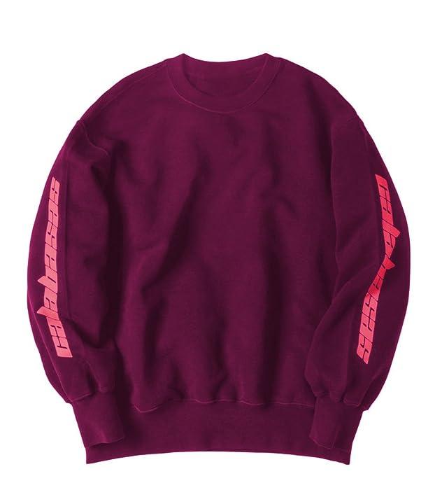 Season 4 Kanye Men's Store small Pablo Us01 West Maroon Crewneck Tour Amazon Yeezy Clothing At Sweatshirt Calabasas Unisex Saint gqnxxEB
