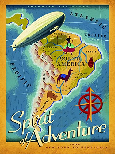 Zeppelin Travel South America Brazil Argentina Chile Rio de Janeiro Travel Tourism Vintage Poster