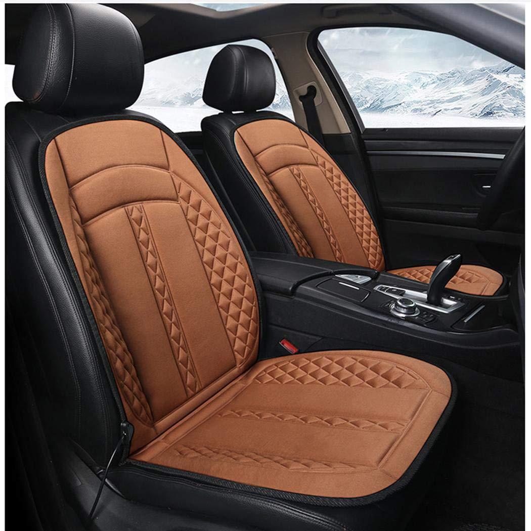 Hiriyt 12V Non-slip Heating Warmer Pad Cover Heated Car Seat Cushion Seat Cushions