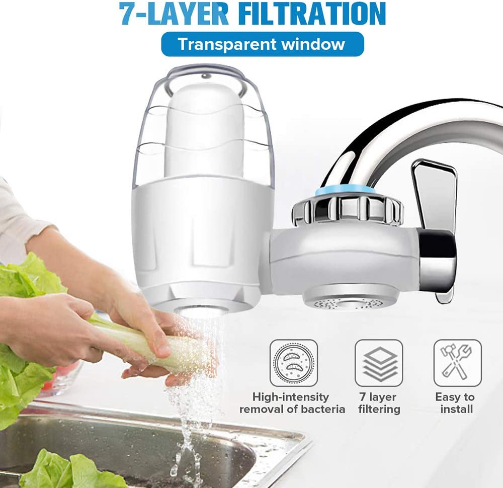 Yueff Tap Purifier Home Faucet Water Filter For Bathroom Kitchen Sink Removing Chlorine Fluoride Bacteria Viruses Chemicals Pesticides Harmful Substance Amazon Co Uk Kitchen Home