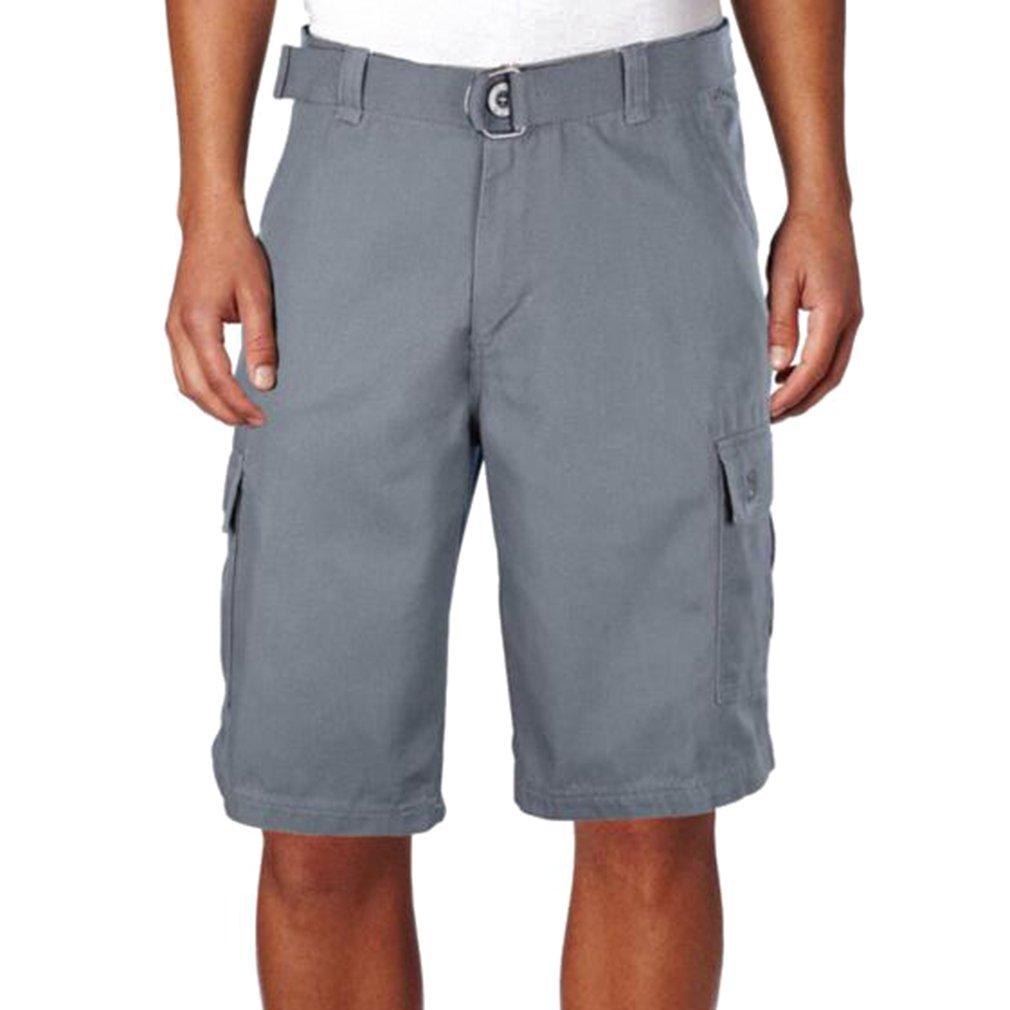 Yying Estate Pantaloni Corti per Uomo Lavoro Casuale Pantaloncini con  Pulsanti Moda a Vita Media Cerniera Loose Fit Tacksuit Pantaloni Shorts  Abbigliamento ... 1198fc53a10