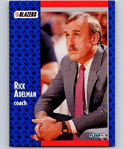 1991-92 Fleer Basketball #166 Rick Adelman Portland Trail Blazers CO Official NBA Trading Card From Fleer/Skybox]()