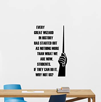 Every Great Wizard Quote Harry Potter Wall Decal Students School College  Door Window Study Library Lettering