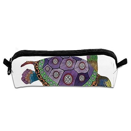 Sea Turtle - Estuche de lona para lápices, 21 x 5,5 x 5 cm, diseño ...