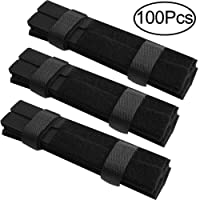 Outee100PcsStraps forCableReusableTies for Cable FasteningWireOrganizerCordRopeHolderforCableOrganizing
