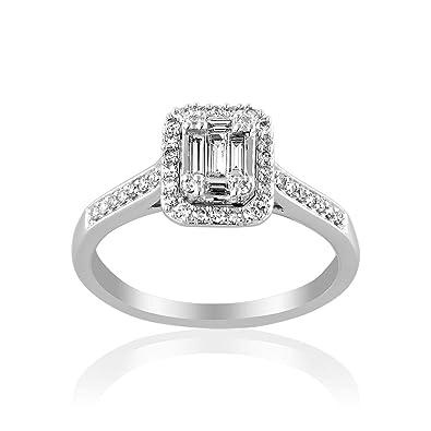 cleor bague or blanc diamant