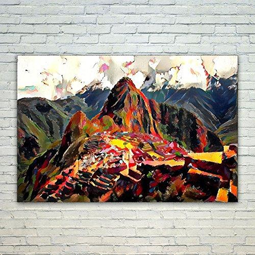 Westlake Art - Poster Print Wall Art - Machu Picchu - Modern Abstract Artwork Home Decor Office Birthday Gift - Unframed -18x12 inch ( fe619 - Stores Village Highland