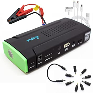 Indigi® coche Jump Starter Mobile cargador de batería Banco ...
