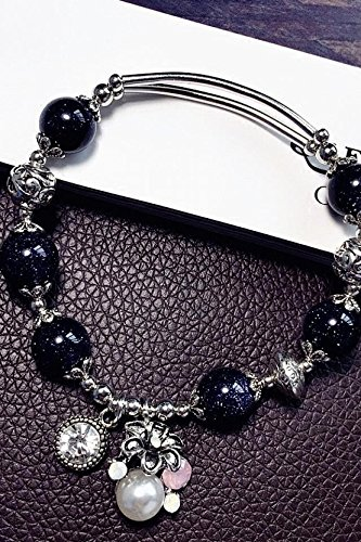 Generic Natural_strawberry_crystal_ bracelet bangle women girls _Korean_style_of simple,_original_sweet_moonlight_stone_ fashion hand _string_ gift jewelry bracelet bangle s (String Moonlight)