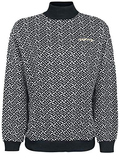 Bianco bianco Donna nero Adidas Felpa Sweater tqSwzZz