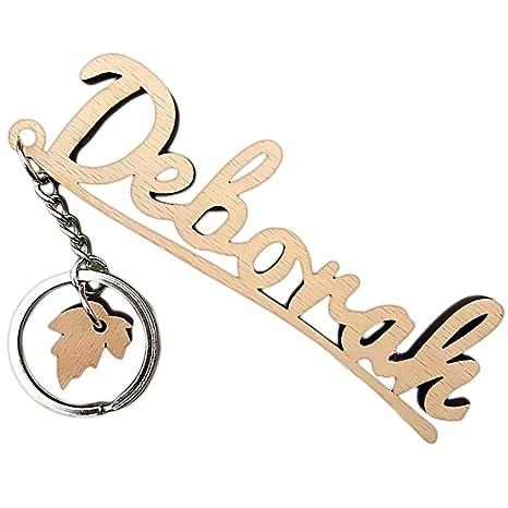 Amazon.com: Nombre personalizado cadena de clave, llavero ...