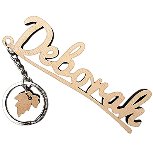 Personalized Key Chain,Name Wooden keychain,Custom Keychain with letters(1-8 letters)