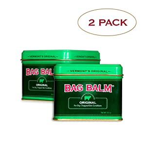 Vermont's Original Bag Balm Moisturizer For Dry, Chapped Skin Conditions 8 Ounce Tin-Twin Pack