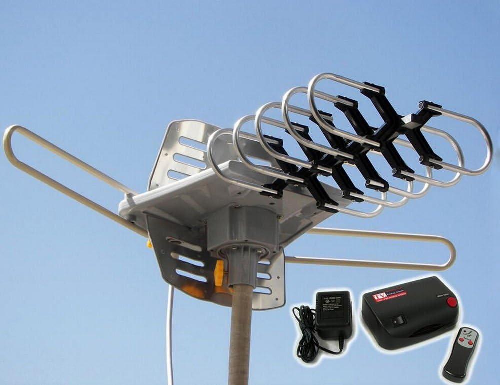 HDTV exterior Amplified antena HD TV 37 Rotor remoto 360 ...