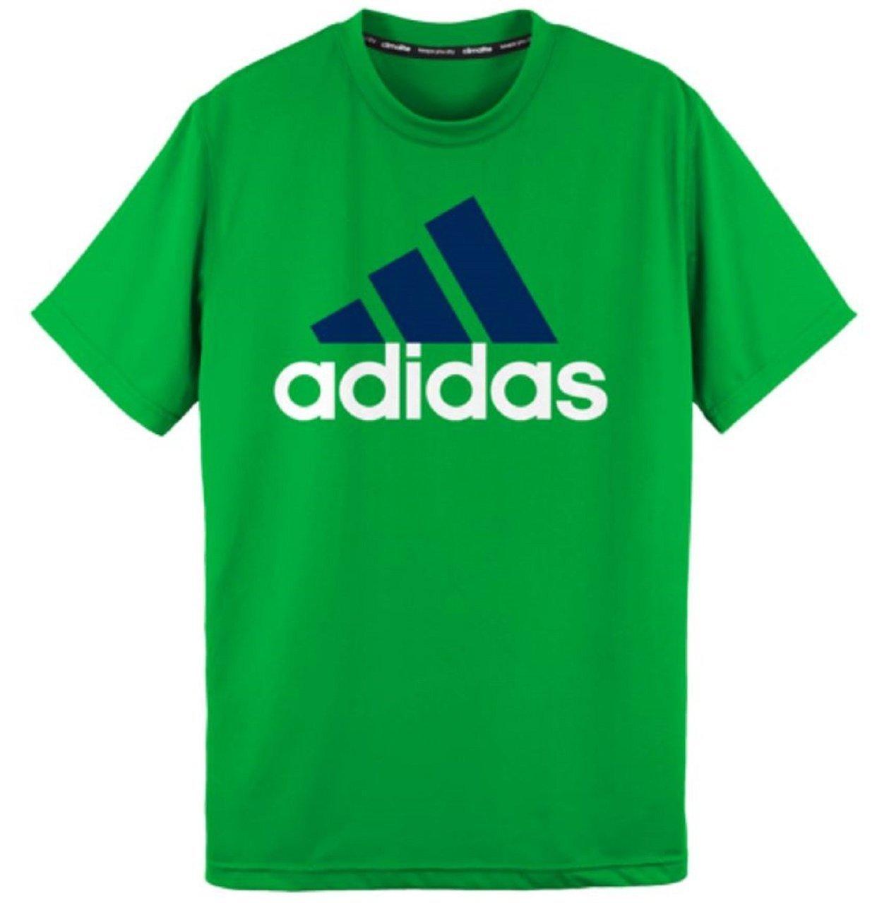 adidas Youth Big Boys Brand Logo Shirt (X-Large/18, Slime Green)