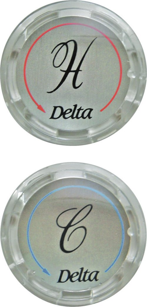 Delta Faucet RP19659 Two Button Set for Clear Handles