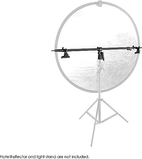 Neewer Studio Vídeo reflector Holder Brazo – 39.7 cm/101 cm retráctil telescópica barra cruzada con 2 piezas abrazaderas para soporte de luz, ...