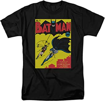 Trevco Batman Batman First Adult T-Shirt Black