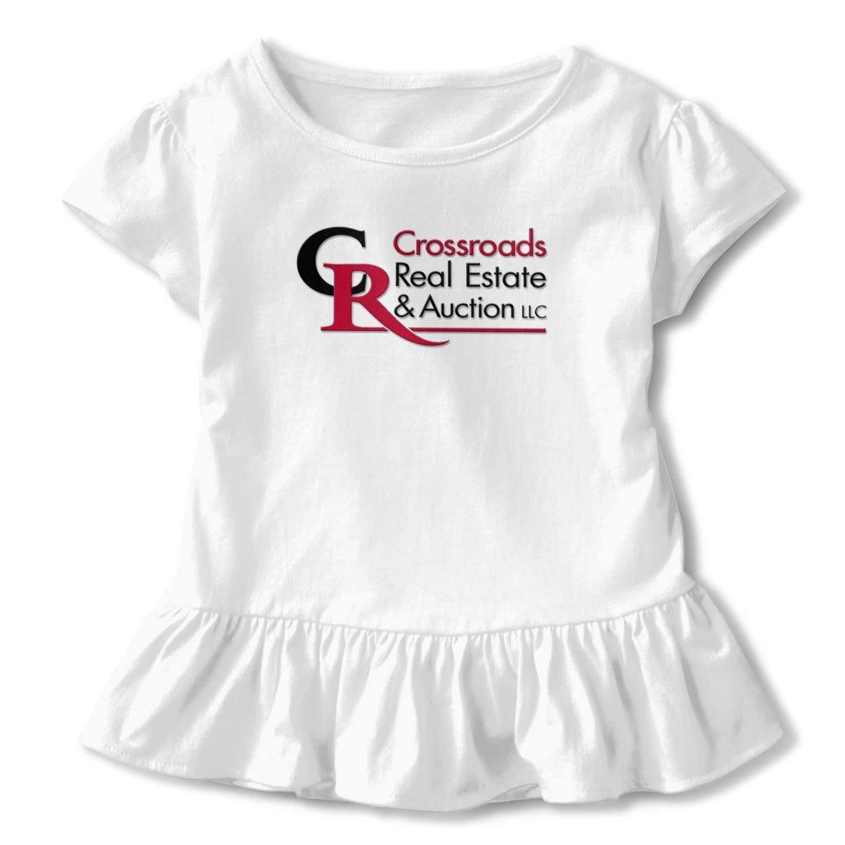 Crossroads Real Estate Auction Shirt Comfort Baby Girls Flounced T Shirts Graphic Tees for 2-6T Kids Girls