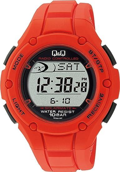 [シチズン Q&Q] 腕時計 SOLARMATE (ソーラーメイト) 電波ソーラー クロノグラフ MHS6-302 レッド