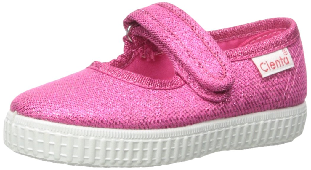 Cienta 56013 Glitter Mary Jane Fashion Sneaker,Fuchsia,22 EU (6 M US Toddler)