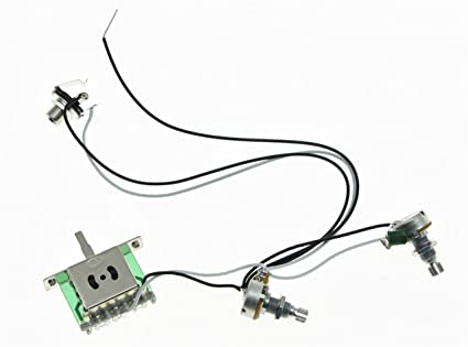 Amazon.com: KAISH Guitar Pre-wired Wiring Harness Alpha 500K ... on