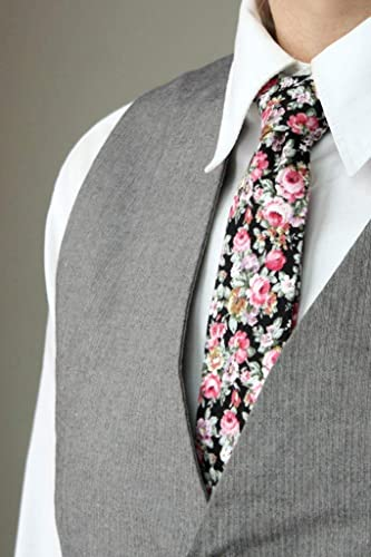 d33386218755 Image Unavailable. Image not available for. Color: Mens Tie+Pocket square  set TC004 Pink floral ...