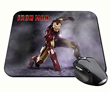 Iron Man 3 Tony Stark Robert Downey Jr G alfonbrilla para ratón Mousepad PC: Amazon.es: Oficina y papelería