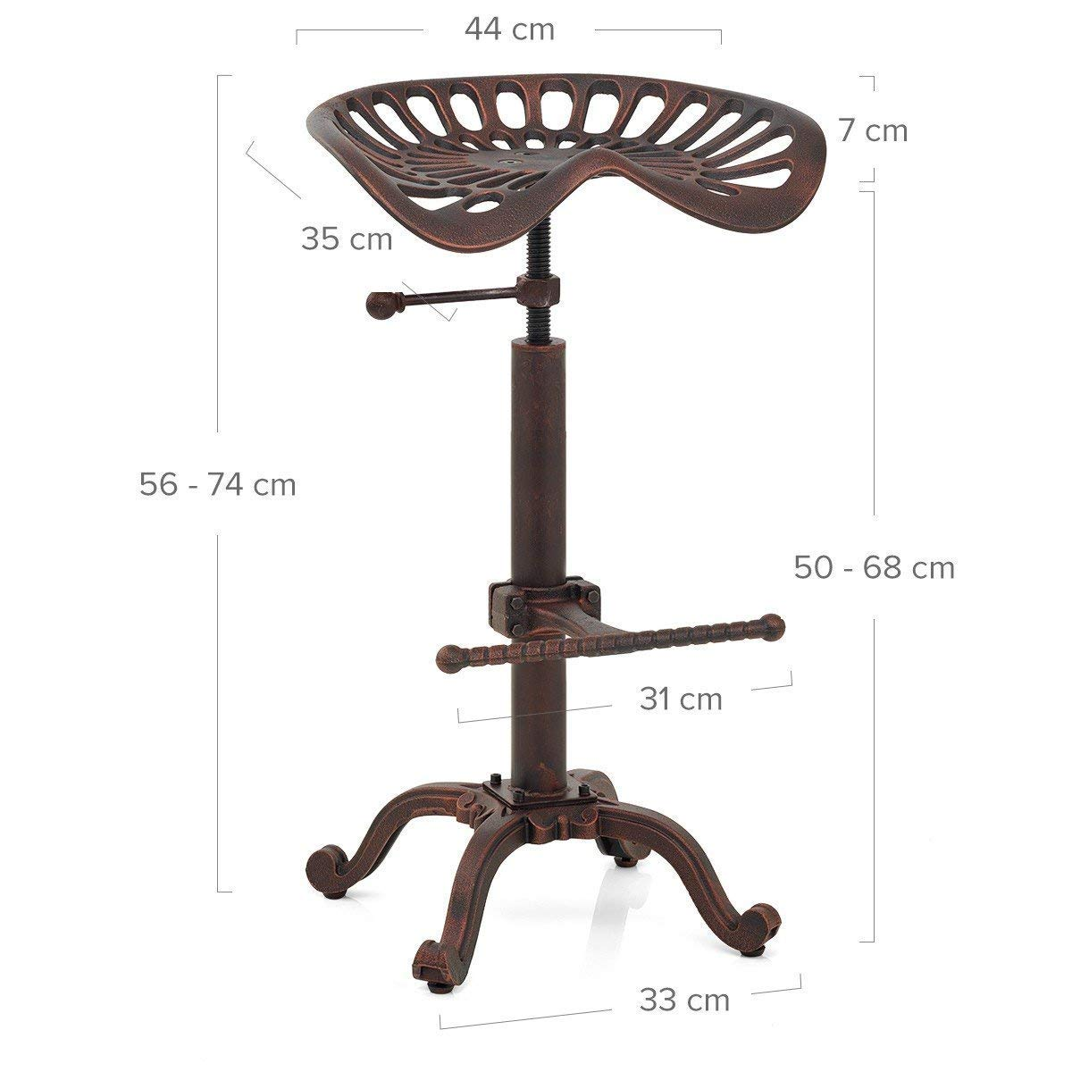 Phenomenal Details About Antique Industrial Swivel Bar Stool Tractor Seat Adjustable Counter Height Stool Gamerscity Chair Design For Home Gamerscityorg