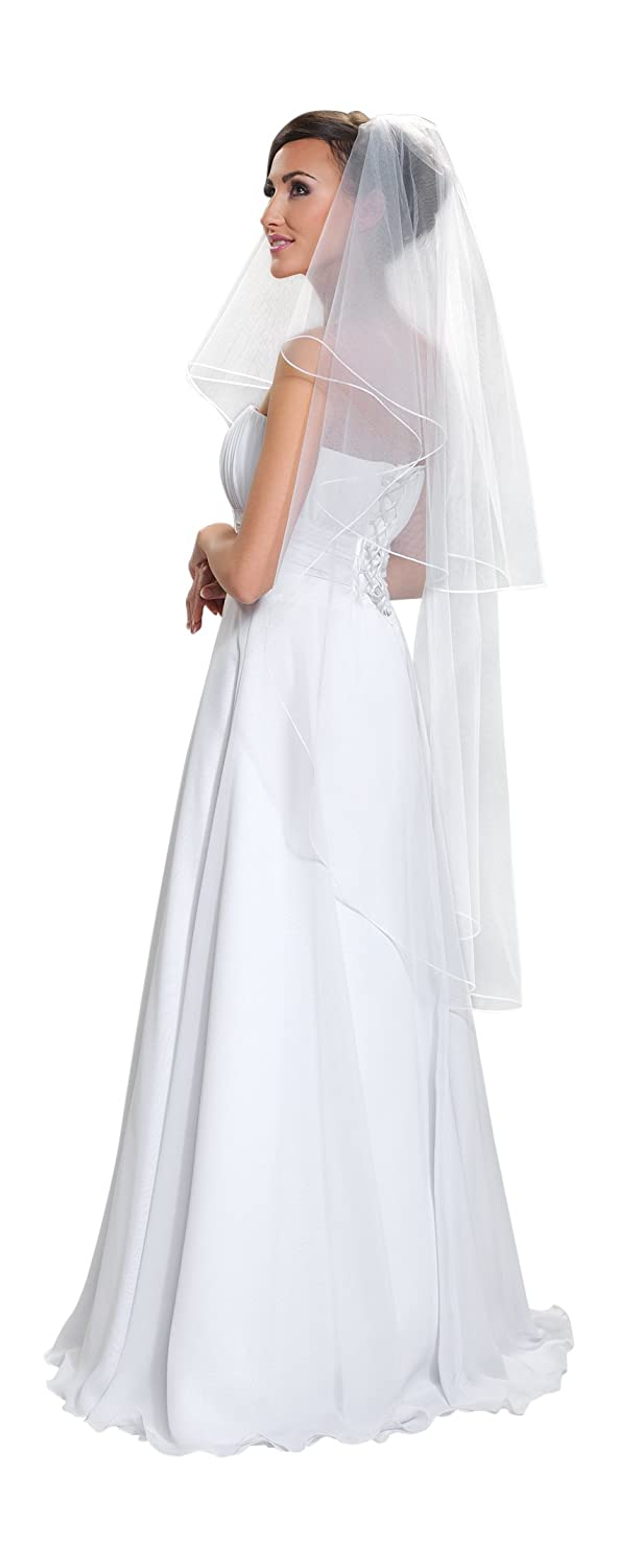 Wedding Prom Bridal Veil With Comb 51 (White)