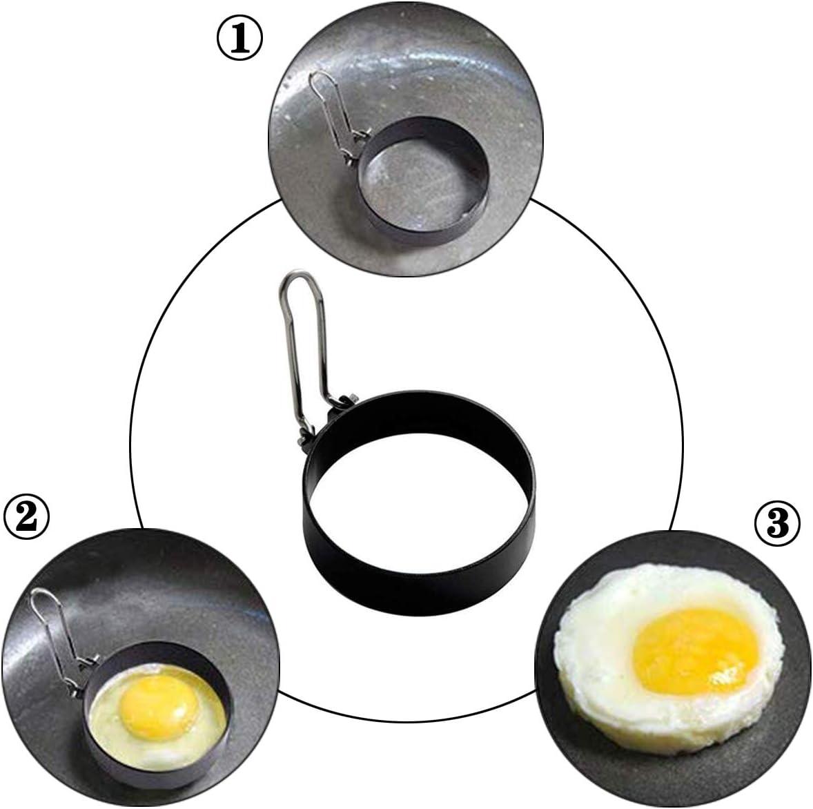 YAOYIN Lot de 4 bagues en Acier Inoxydable pour /œufs de Cuisine en Forme d/œuf 7 cm