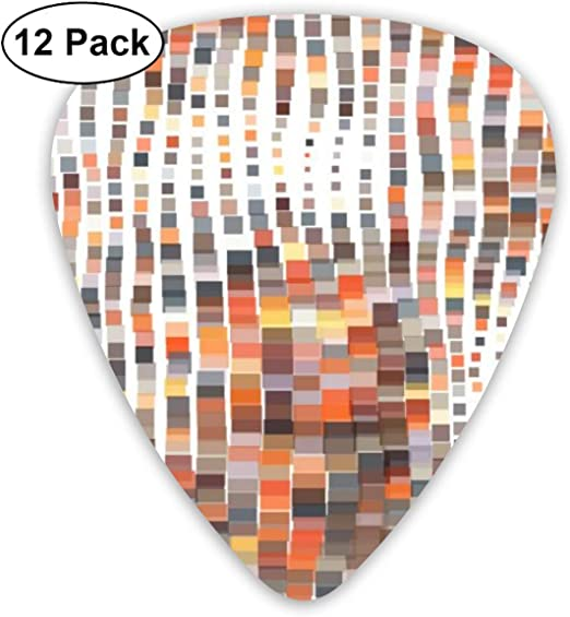 Houity Guitarra de Mosaico Ondulado Vector Illustration in Pixel ...
