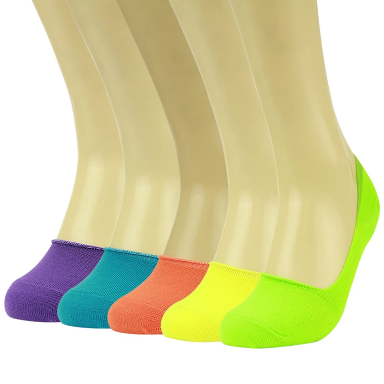 Gmark Men's Women's Casual Colorful No-Show Socks of Hidden Flat Boat Line 3,5,6,8,10 Pairs
