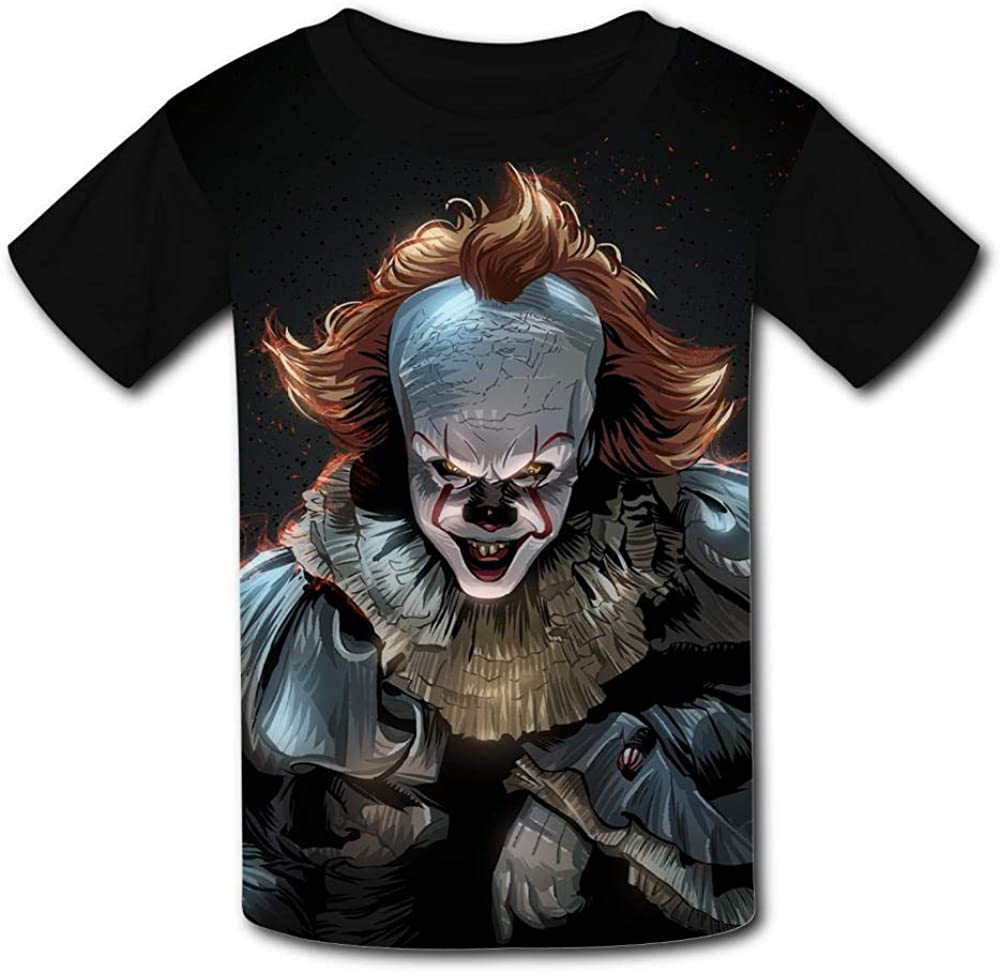 Clown Penny-Wise Kids T-Shirts Short Sleeve Tees Summer Tops for Youth//Boys//Girls