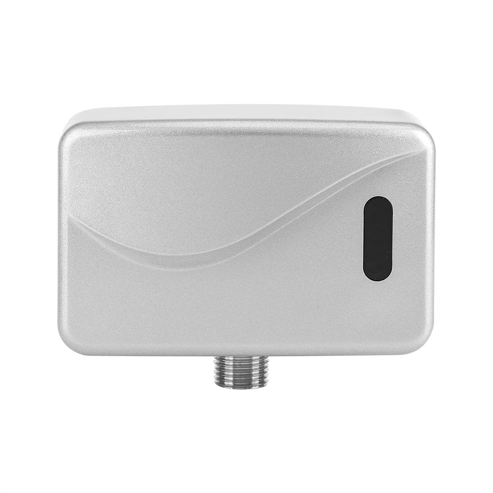 Urinal Flusher Automatic Infrared Urinal Flush Valve Wall Mounting with Automatic Sensor Flush Valve DC 6 V for Bathroom Toilet Flusher Fittings huhushop
