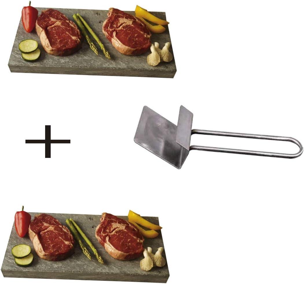 Piedra para carne de 20X30X3 cm, Promo 2 Unidades más Levantador