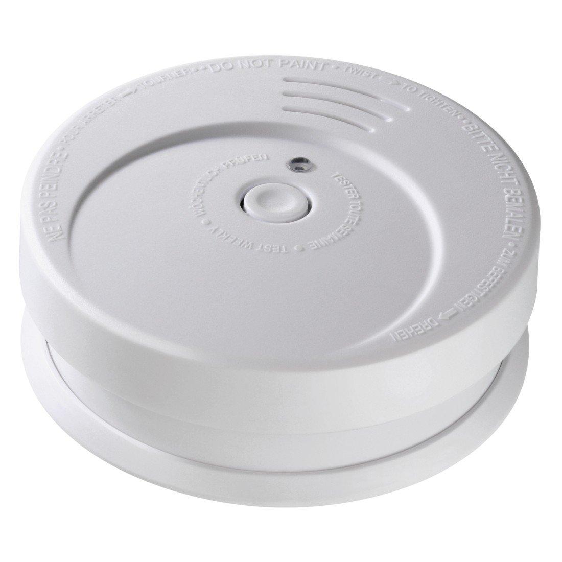 Hama Rauchmelder Feuermelder (85 dB Alarm, optischer Sensor, Testtaste, Kontroll-LED, Batteriewarnung, inkl. Batterie) Brandmelder weiß