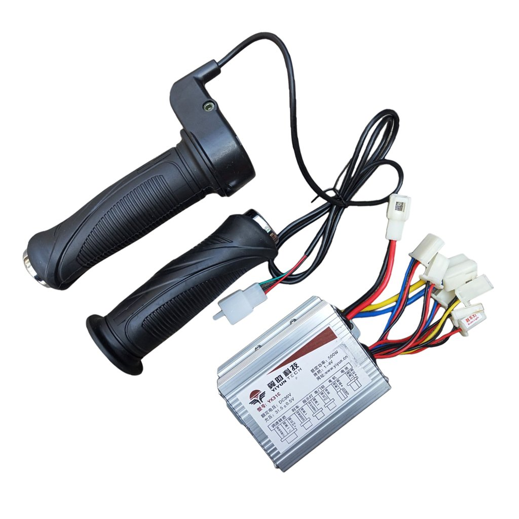 Drives & Motor Controls Motor Brush Speed Controller & Electric Bike Scooter Throttle Grip#4 36V500W Automation, Motors & Drives