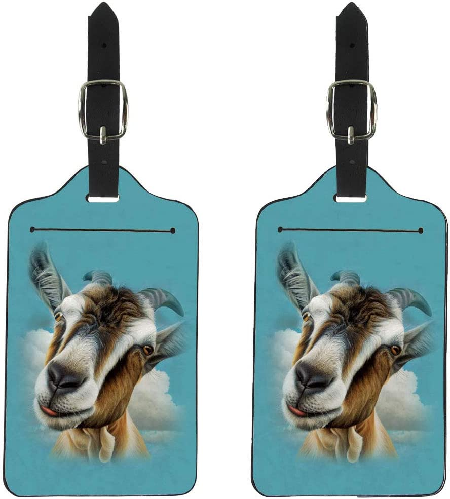 Goat Handbag Tag For Travel Bag Suitcase Accessories 2 Pack Luggage Tags