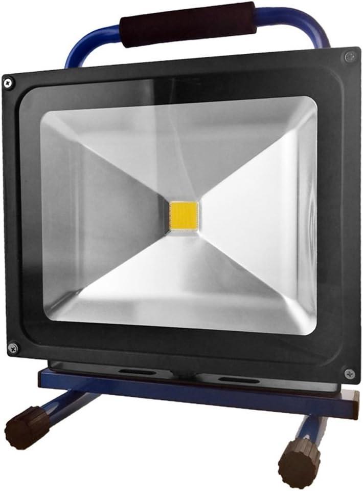 MCTECH LED 10W proyector bater/ía de linterna l/ámpara de proyector c/álido azul blanco